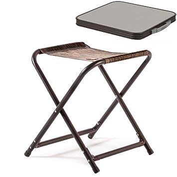 Camping klappstuhl mit tisch  Alu Hocker mit MDF Tischplatte, Tablett, 40 x 46 cm, braun, 1,8 kg ...