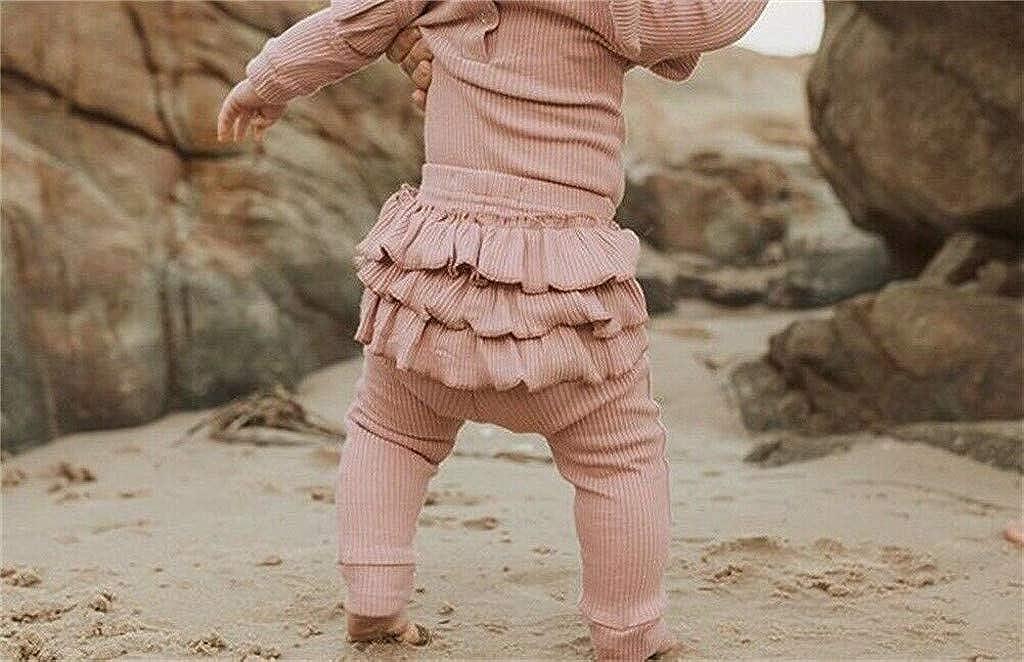 Neugeborenes Baby M/ädchen Kleidung Set Strampler Overall R/üschen Hosen Leggings Stirnband Outfits 3 ST/ÜCKE Set SIRIGOGO Baby Kleidung Set Strampler + Hosen + Haarband