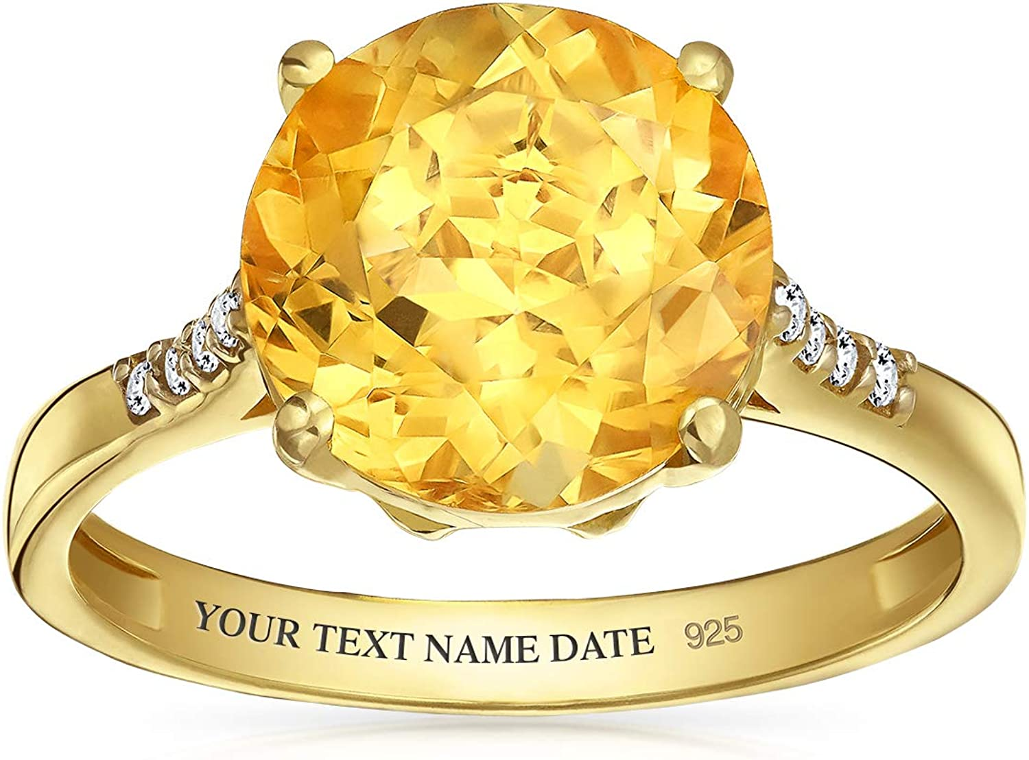 Personalize 3CT Brilliant Solitaire Gemstone Citri Many popular brands Yellow Zircon Limited price