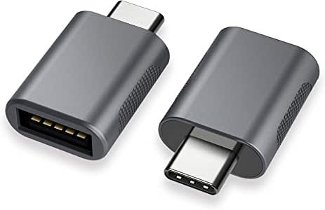 nonda USB C to USB Adapter(2 Pack), USB-C to USB 3.0 Adapter, USB Type-C to USB, Thunderbolt 3 to USB Female Adapter OTG for MacBook Pro 2019, MacBook Air 2020,Surface Go,and More Type-C Device