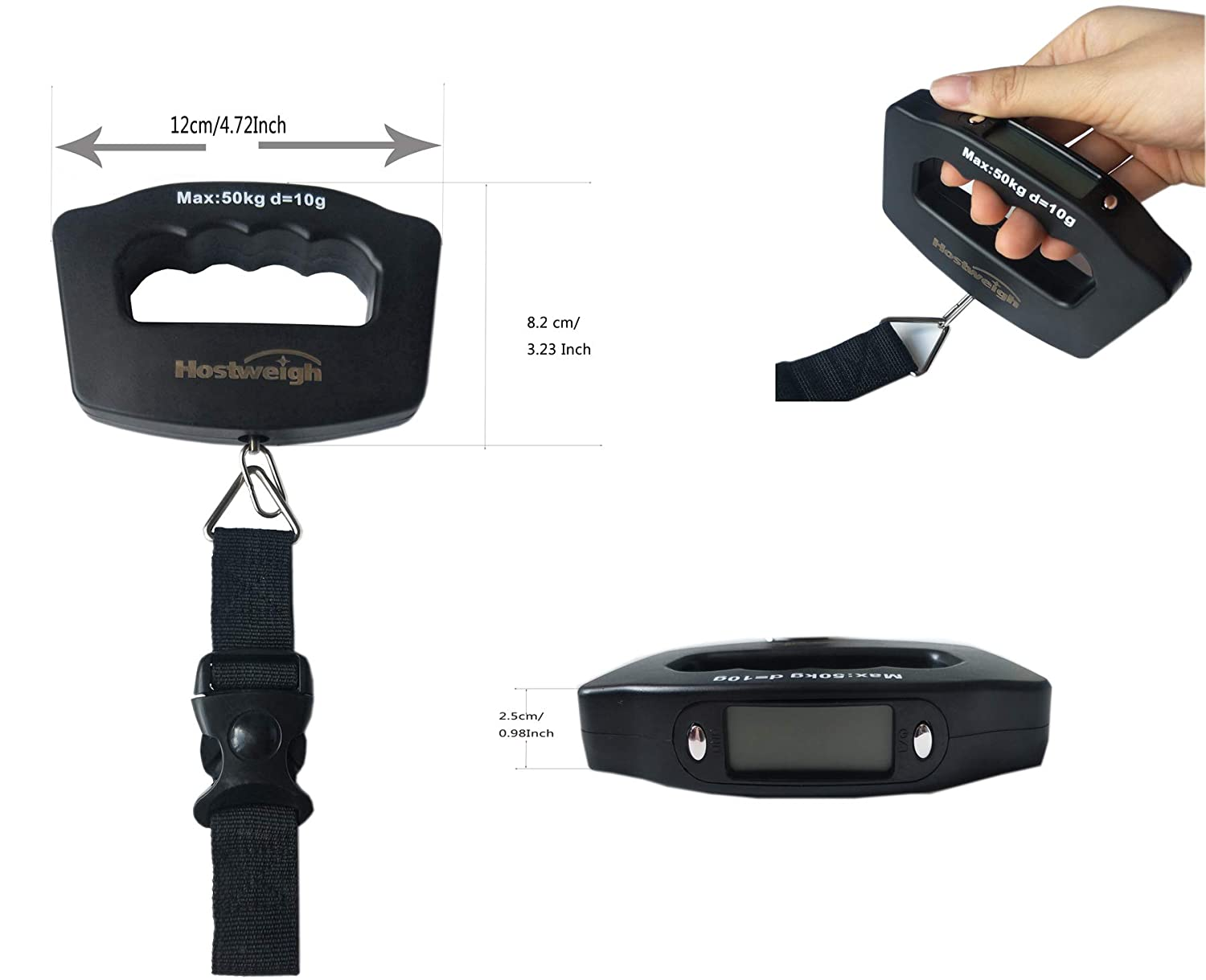 Scale Digital Travel Hanging Luggage Scale LCD Luggage Weight Hanging Scale KG LB OZ