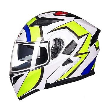 Amazon.es: Casco de moto para hombre y mujer con casco antivaho para moto. (Color : A-M(55-57cm))
