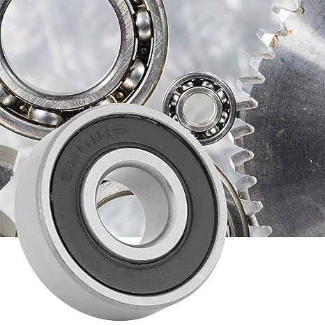 10 pezzi diametro interno di 12 mm Cuscinetti a sfera 6201-RS in acciaio con cuscinetto a gola profonda