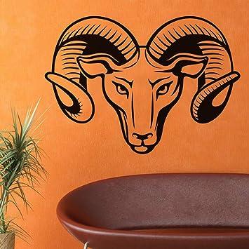 GJQFJBS Rams Head Wall Sticker Hollow Out Design Decoración para ...