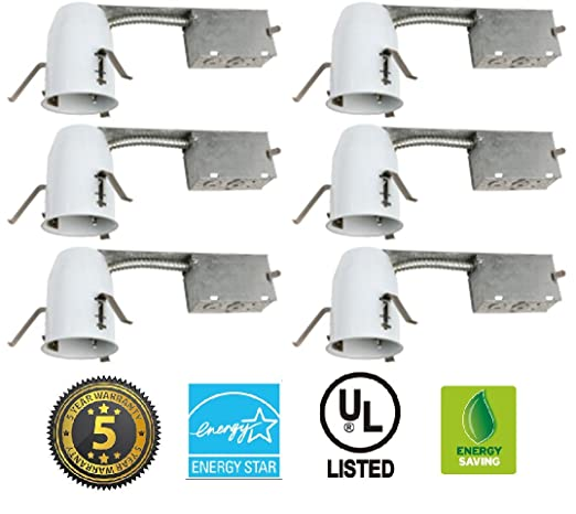 3 led remodel ic rated housing led recessed lighting 6 pack