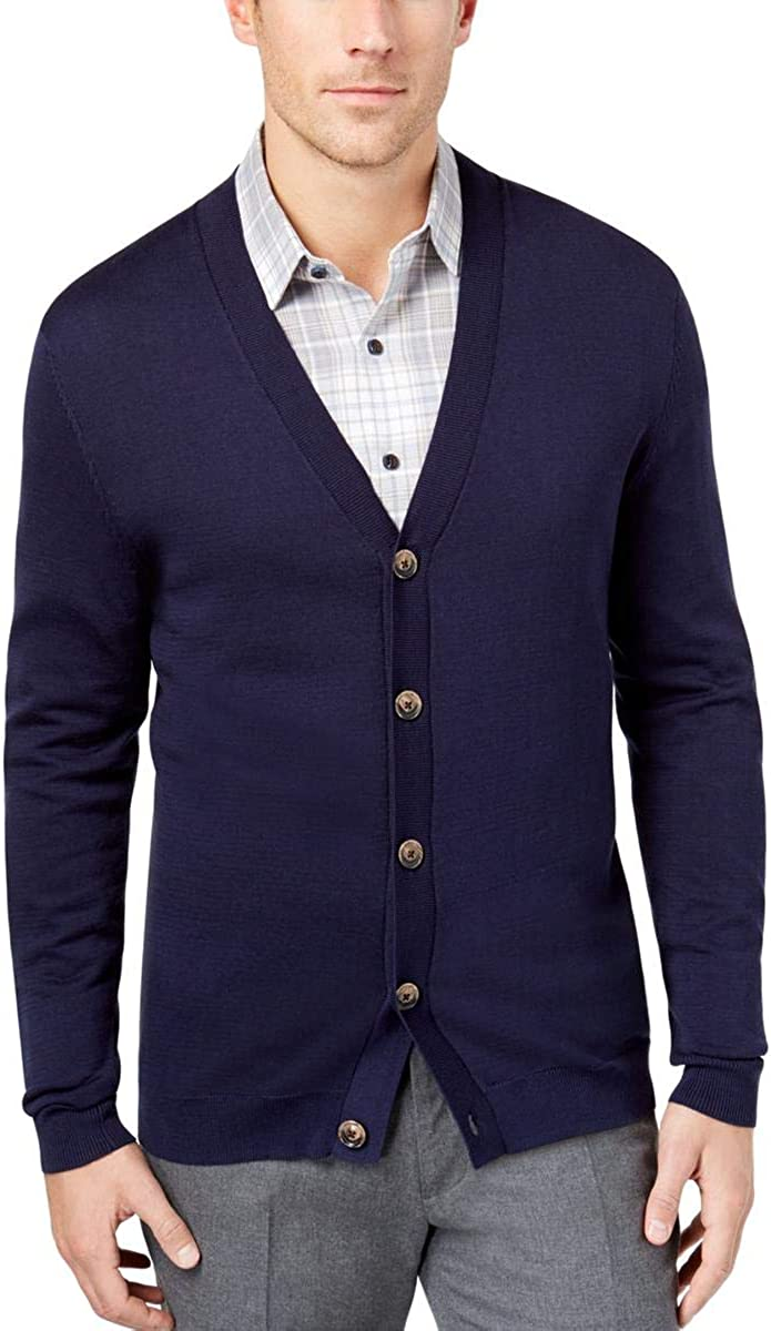 Tasso Elba Mens Double Breasted Cardigan Sweater