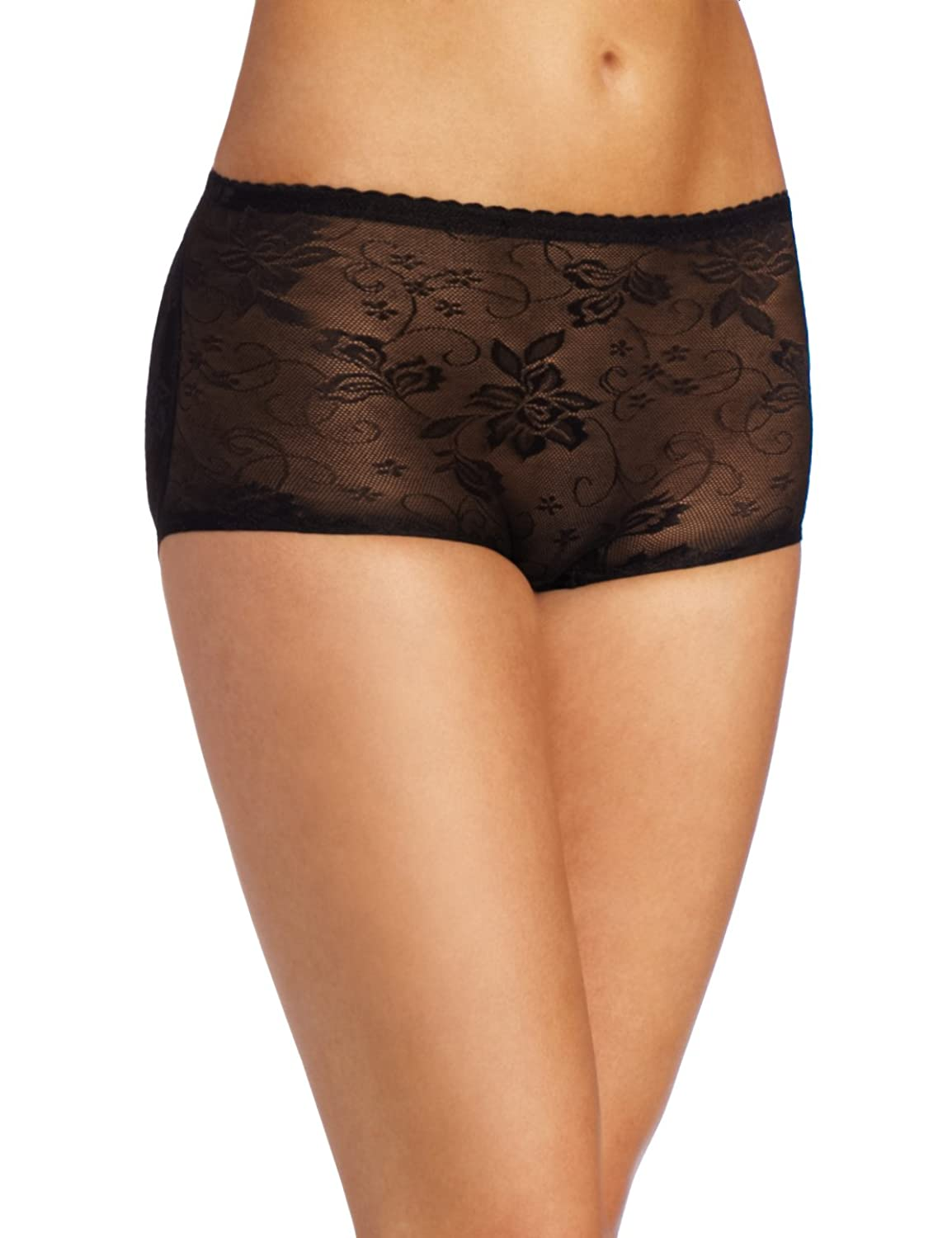Heavenly Shapewear Women's Jacquard Padded Panty, Black, Small ...