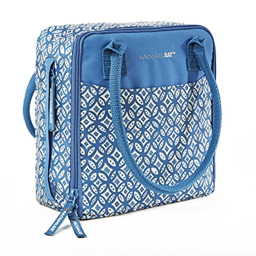 (Rachael Ray Newton Insulated Lunch Bag, Woodblock Geo Blue)