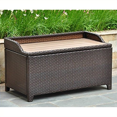 Free Adirondack Furniture Plans - International Caravan Barcelona Faux Wood Top Trunk/Table in Chocolate