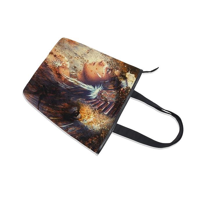 13e6504239 ALAZA Shoulder Tote Borsa di Tela Indiana e Leone Borsa: Amazon.it: Scarpe  e borse