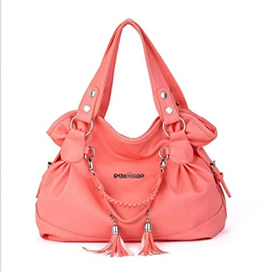 32 Big Women Bag Rose sac à bandoulière en cuir sac à bandoulière sac à main sac à bandoulière couleur unie