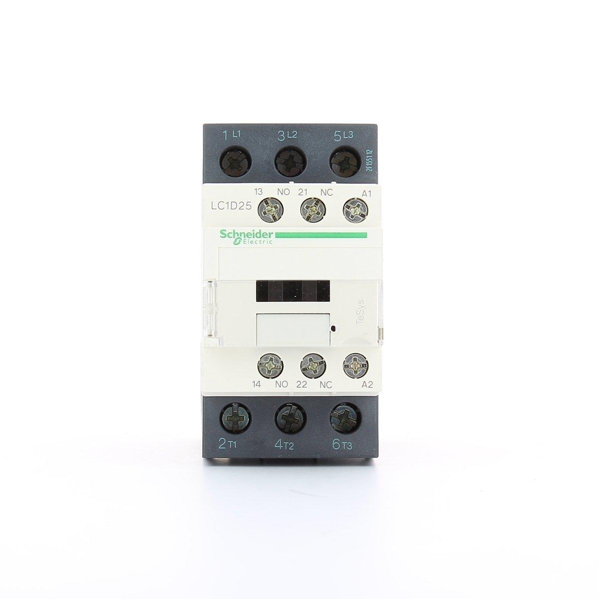 Schneider Electric LC1D25B7 contacteur TeSys LC1-D, 3P, 25 A, 440VAC-3, bobine 24 VCA, 50/60 Hz