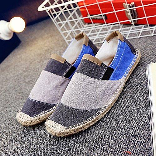 Cinese Flats Basse Grigio Espadrillas Colpisci Casuali Comfort Unisex on Moda Scarpe Colore Slip gYwq4SP