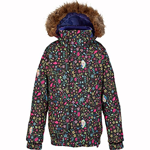 Burton Girl's Twist Bomber Jacket, Elsa/Anna Frozen Print, - Burton Bomber