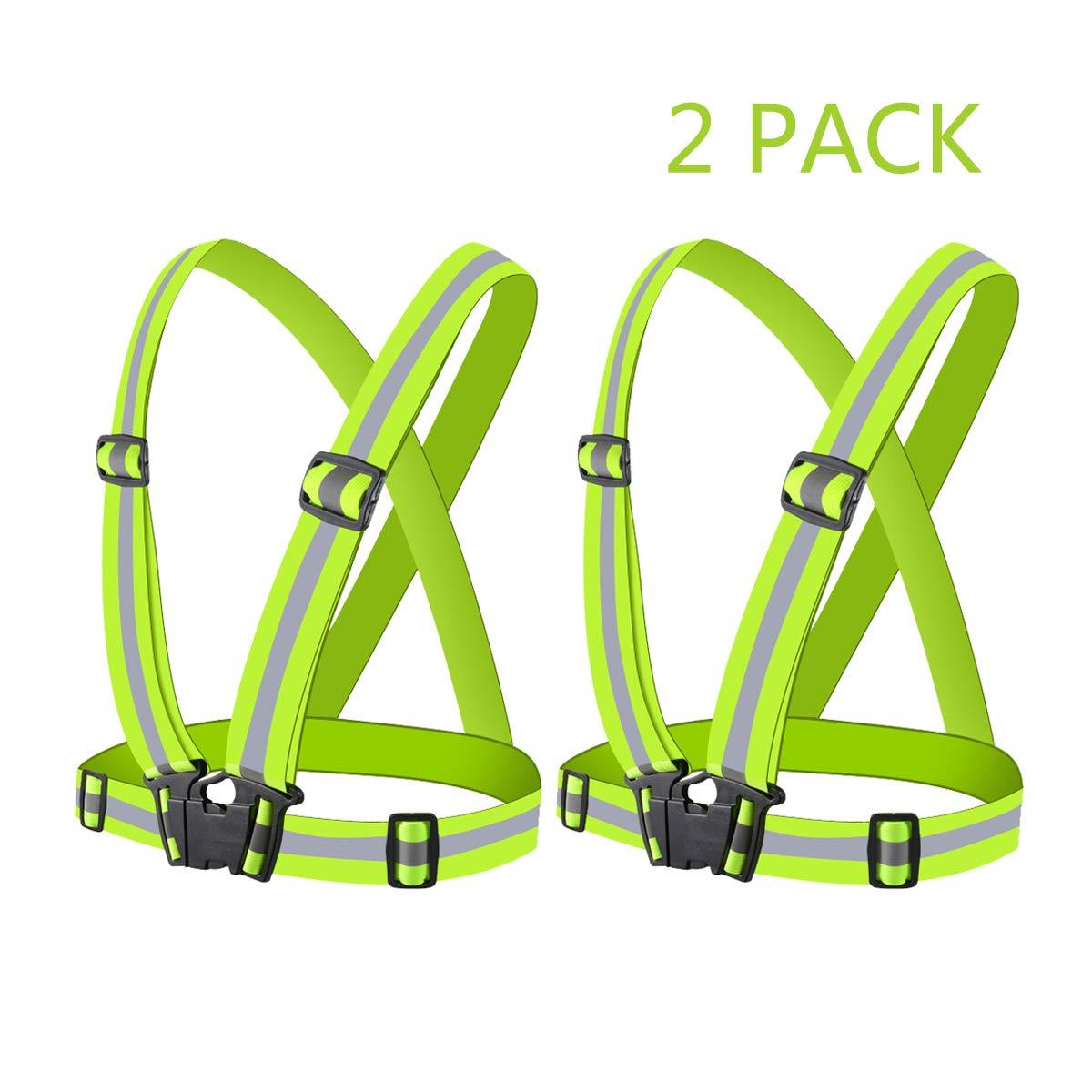 Elastic and Adjustable Reflective Gear for Running Flytt Reflective Vest 2 Pack