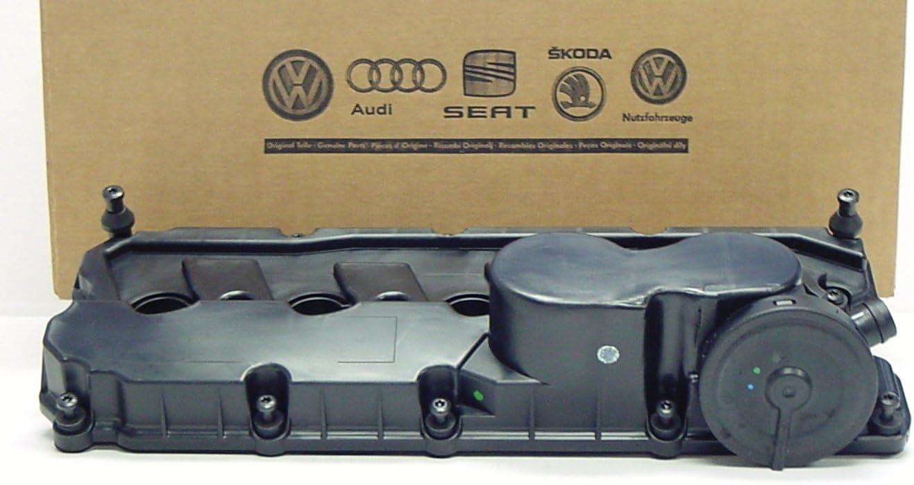 Genuine OEM Volkswagen Valve Cover with PCV Valve, Gasket and Bolts for 2.5 Jetta Rabbit Golf Passat 2006-2014