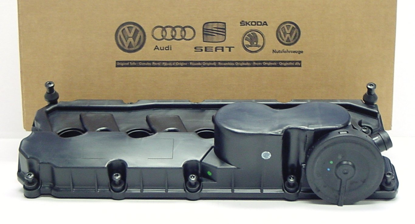 Genuine OEM Volkswagen Valve Cover with PCV Valve, Gasket and Bolts for 2.5 Jetta Rabbit Golf Passat 2006-2014 by Volkswagen