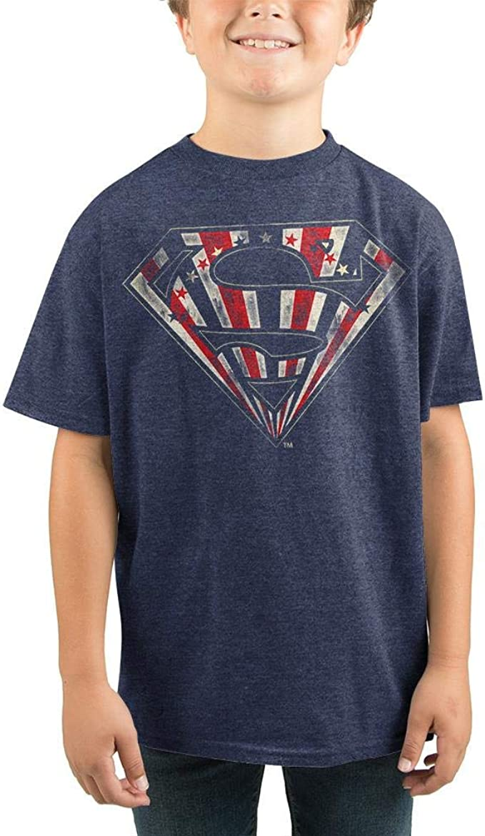 Amazon.com: Youth Superman Shirt Youth Boys DC Comics Apparel-Medium: Clothing