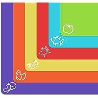 Alfombrillas de plástico flexible extra gruesas con iconos de comida y parte trasera de gofre EZ-Grip, juego de 6…