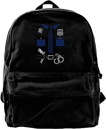 Mochila de lona para uniforme de policía, gimnasio, senderismo, portátil, bolsa de hombro para hombres y mujeres