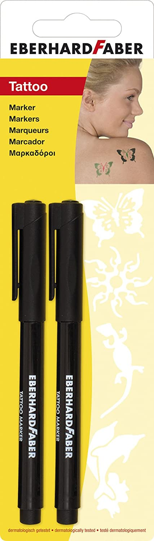 Idena Eberhard Faber 559.596 marcatori del tatuaggio 2 pezzi nero