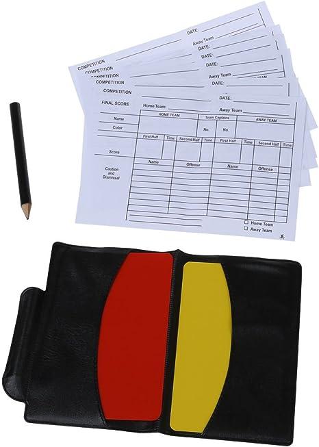 TOOGOO(R) Caja para tarjetas rojas y amarillas de arbitraje ...