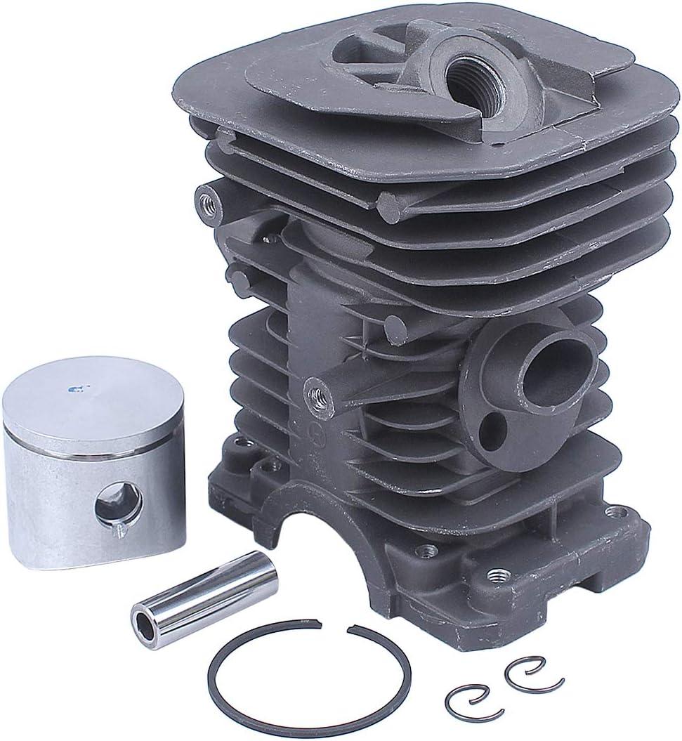 Haishine 38mm Moteur Cylindre Piston Carburateur Vilebrequin Roulement Huile Joint Kit D/étanch/éit/é pour Husqvarna 136 137 141 142 R/évision De Chainsaw