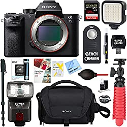 Sony A7s Ii (Alpha 7s Ii) Full-frame Mirrorless Interchangeable Lens Camera Body + 128gb Memory & Flash A7riii Accessory Bundle