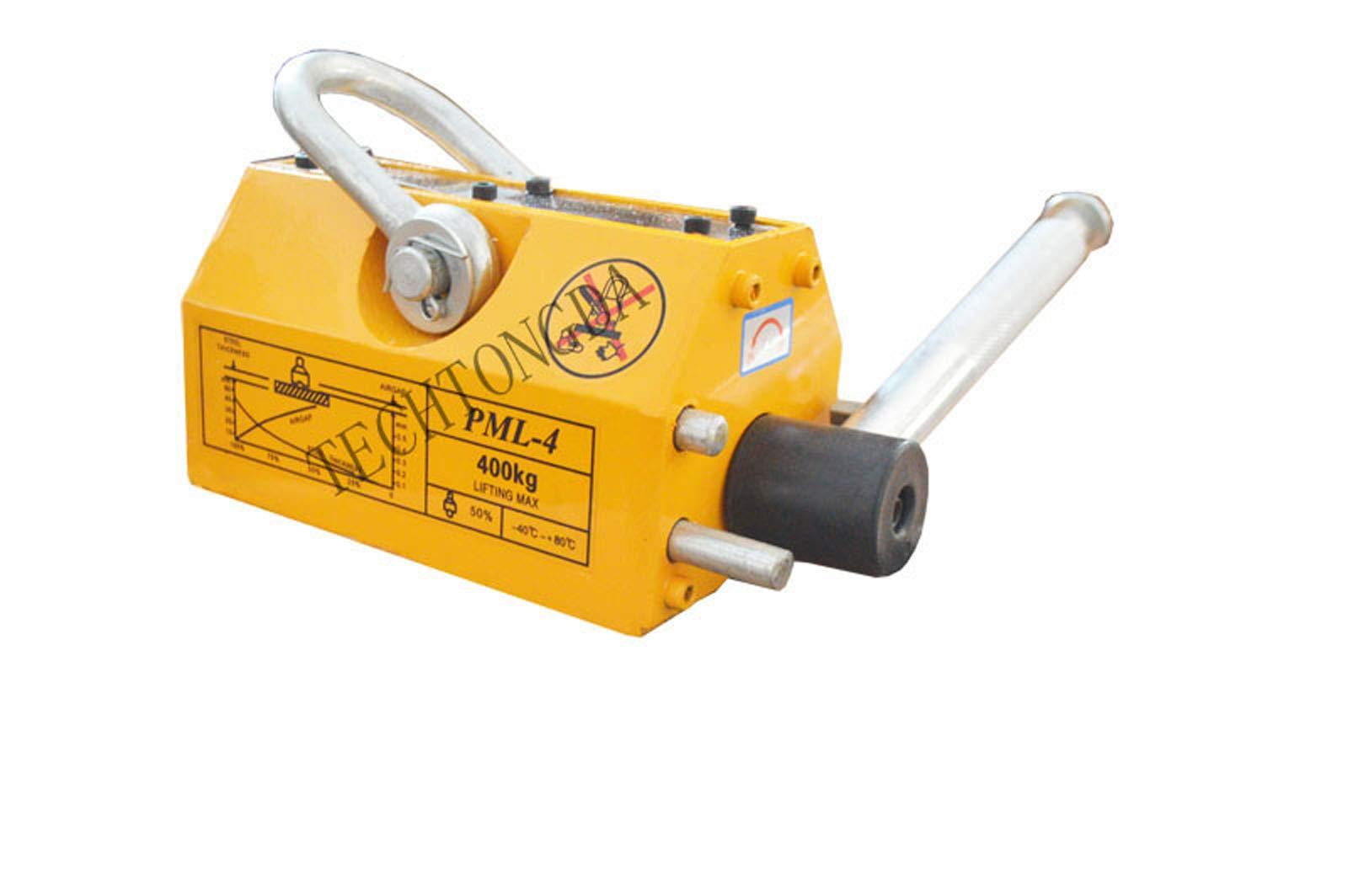 INTBUYING 400KG Steel Magnetic Lifter Heavy Duty Crane Hoist Neodymium Magnet