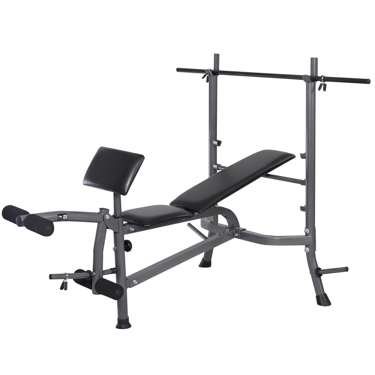 Goplus Standard Weight Bench Incline/ Flat Adjustable with Leg Developer and Dumbbell Bar by Goplus