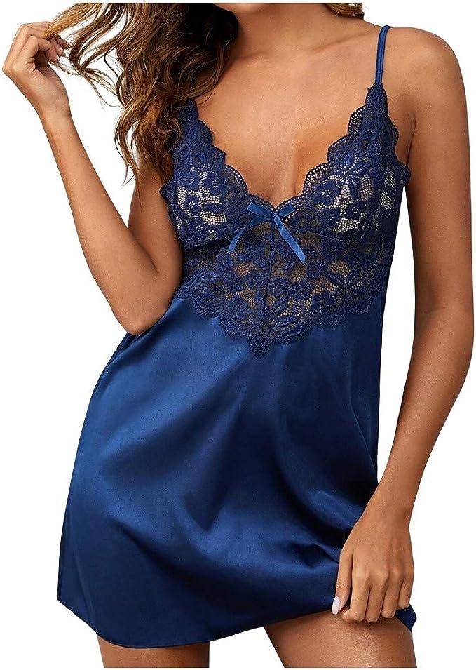 Damen Übergröße Spitze Dessous Lingerie Unterwäsche Nachtwäsche Reizwäsche Kleid