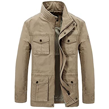 Amazon.com: Jacket Thick Fleece Winter Jacket Men Army Military Jackets Many Pockets Chaqueta Hombre: Clothing