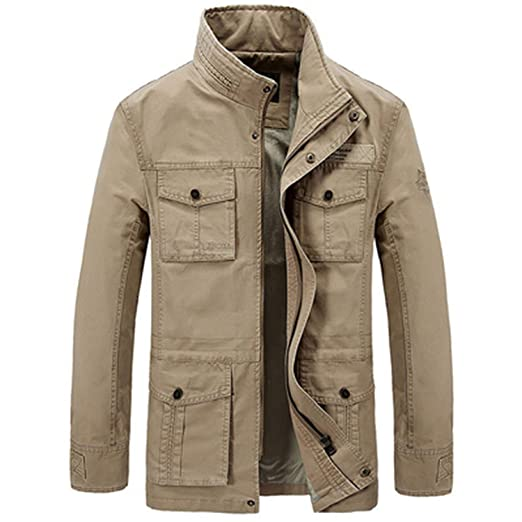 Amazon.com: Jacket Thick Fleece Winter Jacket Men Army ...