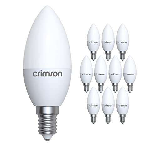 LM® E14 Rosca Edison pequeña - 5 W C37 Vela Bombilla LED Blanco cálido 450