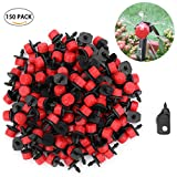 """Youngneer Adjustable Irrigation Drippers Emitters Micro Sprinklers Heads 1/4"""" Drip Watering Kits for Greenhouse Patio Garden Flower Bed 150 Pack"""