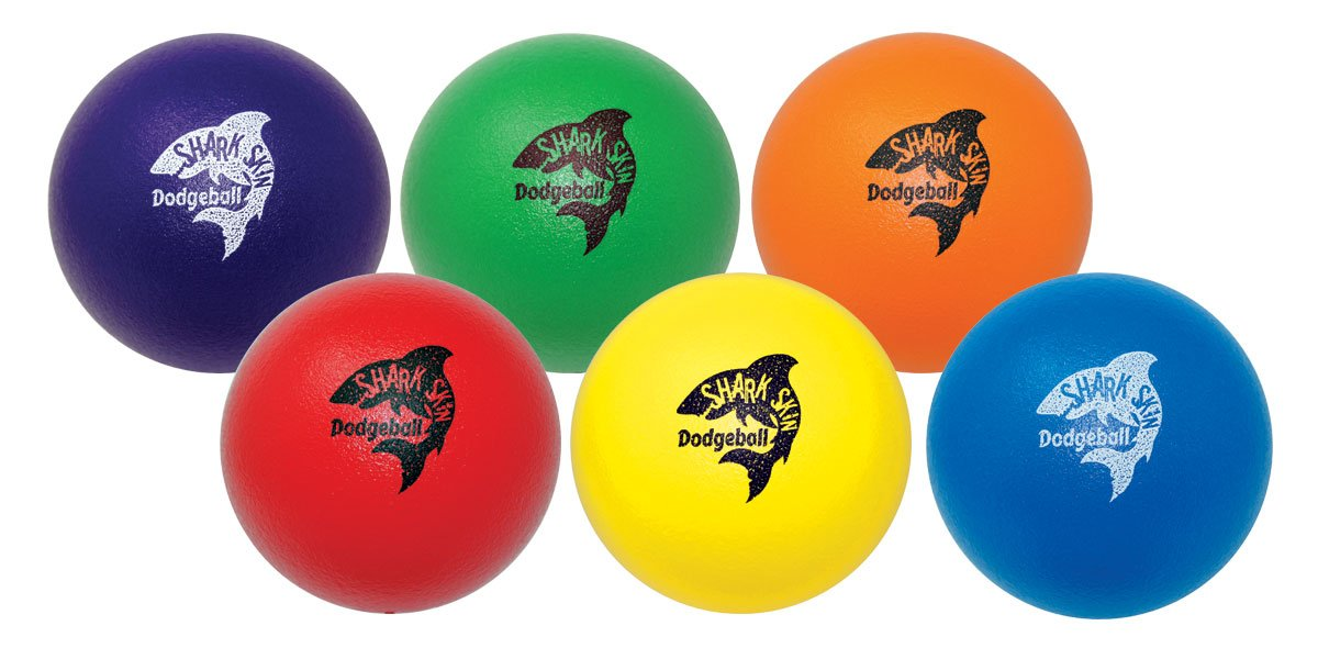 Great Lakes Sports Shark Skin Foam Dodgeball (Set of 6) with Updated Graphics by Great Lakes Sports