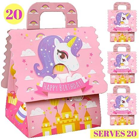 Amazon.com: Bolsas de regalo para fiesta de unicornio ...