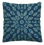 "This absolutely beautiful 100% handmade and handbeaded pillow measures 12""x12"". Its available in a myriad of colors. It's an elegant accessory that will complement multiple decors and settings. Filled with comfortable and soft 100% polyester...."