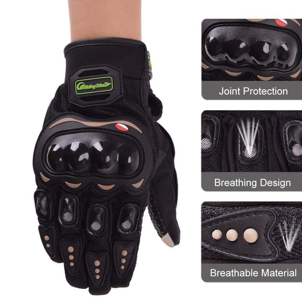 L evermotor Motorrad Handschuhe Schwarz Motorradhandschuhe Touchscreen Sport Handschutz f/ür Motorrad Radfahren Camping Draussen