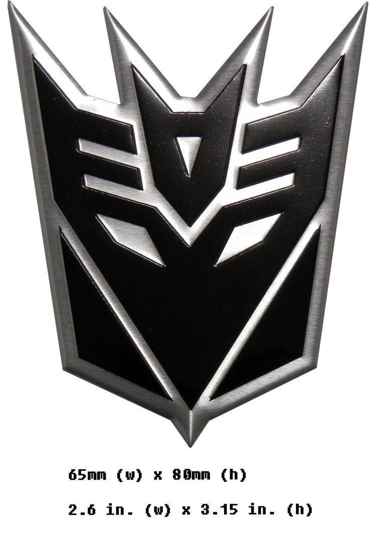 Amazon Transformers Decepticon Black Large Aluminum Emblem