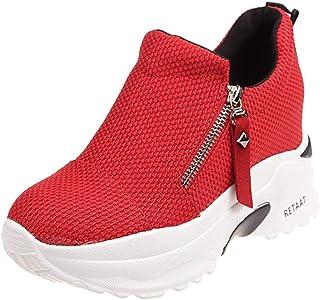 Chaussures ADESHOP Femme TêTe Ronde Coin Chaussures à Semelles CompenséEs Augmentation dans Plateforme éTanche Sneakers à Coussin d'air Classique Chaussures De Les Loisirs