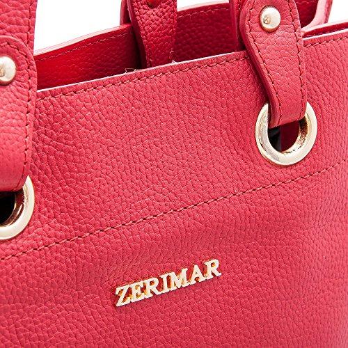 Rouge 100 Sac main à main de Petit haute Sacs Grand femme Sac main portés Zerimar qualité Sac à cuir fwYUgPwqI