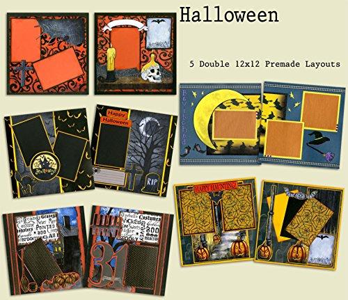 Halloween Scrapbook Set - 5 Double Page Layouts (Halloween Double Page Layouts)