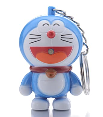 Amazon.com: reindear Doraemon linterna LED Llavero w/sonido ...