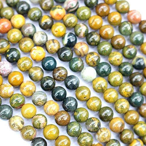 Ocean Jasper Beads Strand (Natural Ocean Jasper Round Gemstone Beads for Jewerly Bracelet Making (6mm))