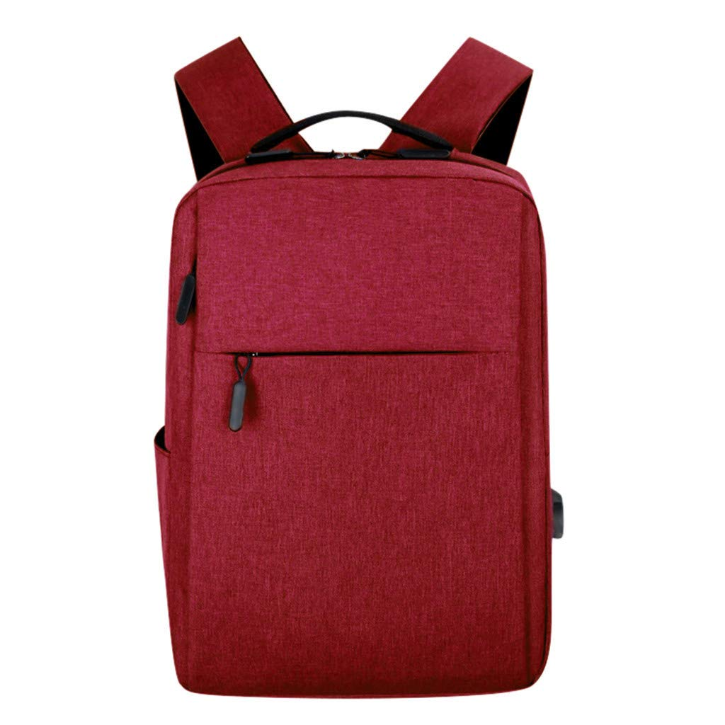 HENWERD Lightweight Backpack for Women and Men Anti Theft College School Computer Bag (Red)