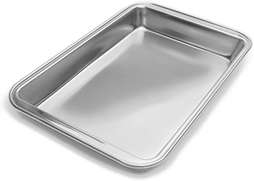 Amazon Com Fox Run Stainless Steel Baking Pan 11 Inch X 7 Inch Surface Kitchen Dining
