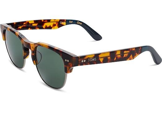 d225cdbdeb6eee TOMS 10009595 Havane cadre Tortue verte Magnifier lunettes de soleil carrées