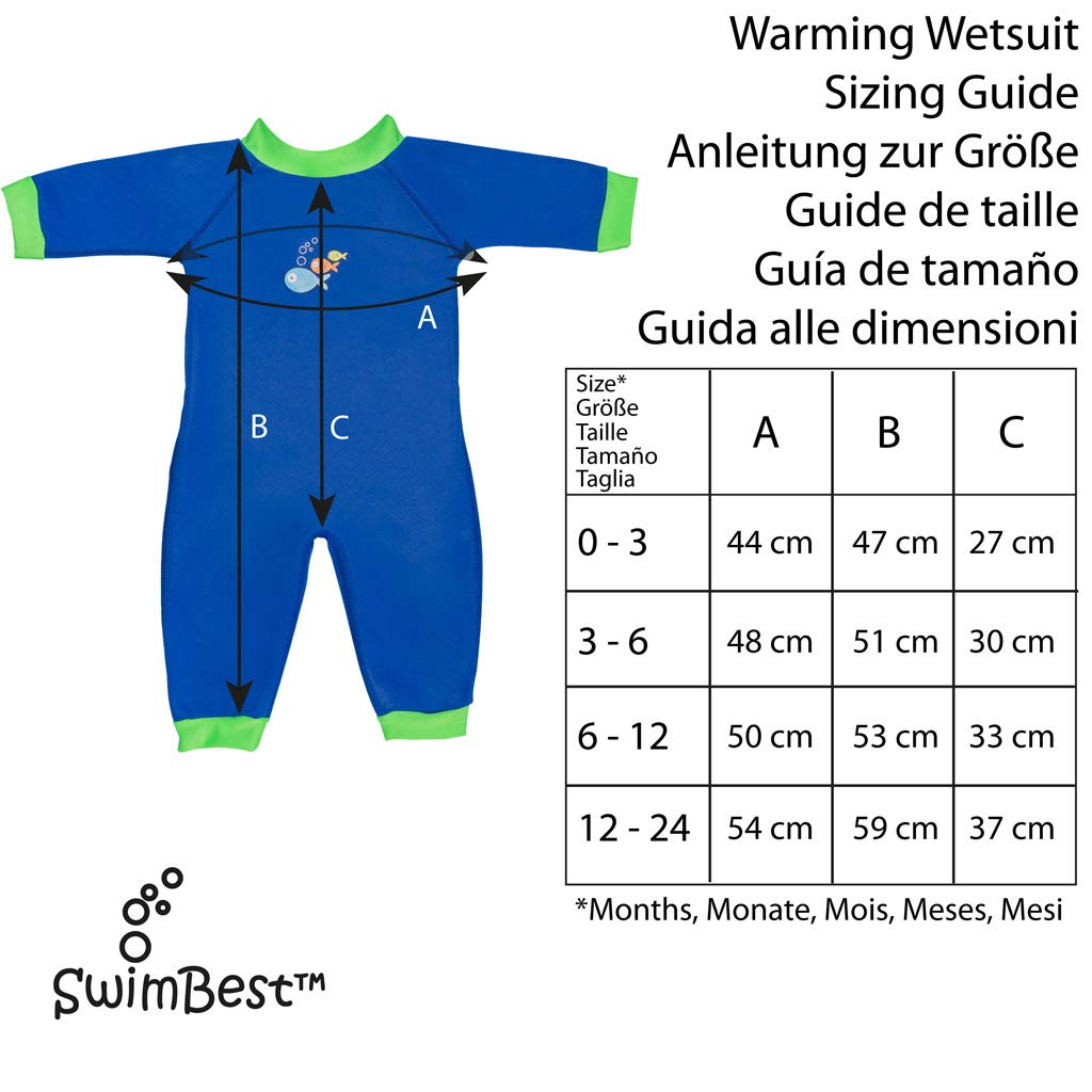 Swimbest Traje de bebé, Rosa/Azul, 3-6 Meses (SWW02-06): Amazon.es ...
