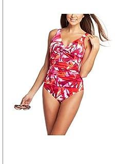 1ea525d4bf299 Croft & Barrow Tummy Slimmer Swimsuit One-Piece Orange Pink Plus Size 24W